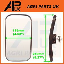 Universal Mirror Head + Glass Tractor Lorry Digger Blind Spot JCB Bus Curved