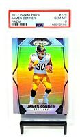 2017 Prizm RC SILVER REFRACTOR Steelers JAMES CONNER Rookie Card PSA 10 Pop 84