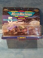 Micro Machines Babylon 5 #4 - Minbari flyer, Narn Fighter, B5 Crew shuttle