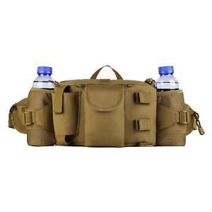 Tactical Waist Pack Bag With Water Bottle Pocket Waterproof Hip Belt Bag Pouch