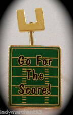 """Go For The Score!"" Football Lapel Pins, Lot of 25! NIB"