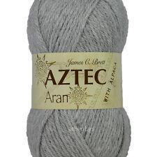 Brett Aztec With Alpaca Aran Grey Al10 100g Yarn