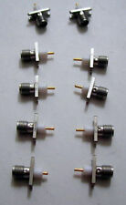 LOT OF 10 SMA (F) 2 HOLE JACK  CONNECTORS