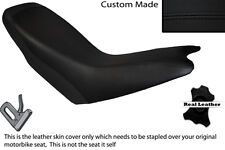 BLACK STITCH CUSTOM FITS APRILIA ETX 125 DUAL LEATHER SEAT COVER ONLY
