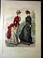Moda - Stampa Figurino Tesoro Famiglie - Novembre 1883