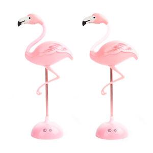 Rechargeable Flamingo Touch Sensor USB LED Desk Table Night Light Reading Lamps