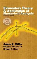 Elementary Theory and Application of Numerical Analysis. Revised Edition by Mill