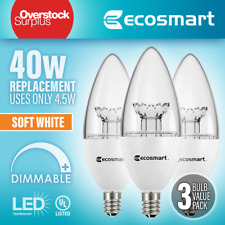 EcoSmart 40W Equivalent Soft White - Dimmable LED (3 Pack Box) Candelabra