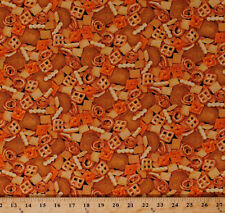 Cheez-Its Chex Mix Crackers Snacks Food Cotton Fabric Print by the Yard D783.30