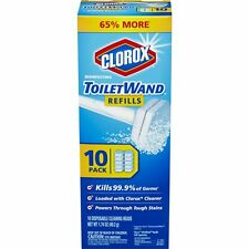 Clorox Toilet Wand 10 Count Toilet Clean Disinfecting Refills Bathroom Cleaner