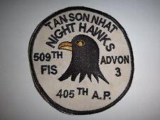 Vietnam War Patch 509th FIS 405th Air Police Sq NIGHT HAWKS At TAN SON NHAT
