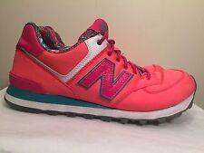 New Balance 574 Hot Pink Running Walking Fashion Sneakers Shoes Womens Size 10