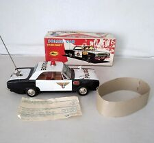 Large Tinplate Stick Shift Police Car   ( BOXED )