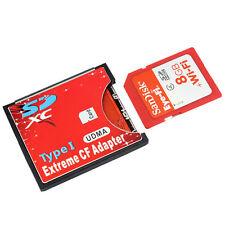SDXC SDHC WIFI SD to Type I Compact Flash Card CF Adapter Max Support 2TB New