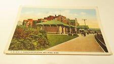 VINTAGE POSTCARD C.M. & ST. PAUL RAILROAD DEPOT STATION RED WING MINN. 1920'S !!