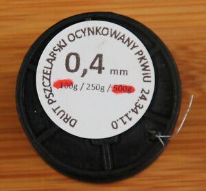 Verzinkter Wabendraht • Ø 0,4 mm • 250 g • Rähmchen verdrahten • Imkerei • Imker