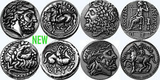 Zeus, King of the Gods, 4 Greek Coin Set,  4 Versions (4-ZUESSET-S)