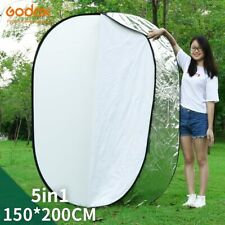 """GODOX 150 x 200cm 59""""x79"""" 5 in 1 Collapsible Oval Photography Large Reflector"""