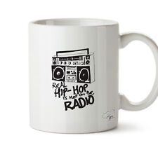 real hip hop is not on the radio  10oz mug gift present cup homeware kitchen