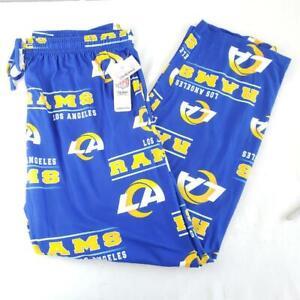 -= NFL Team Apparel Los Angeles Rams Mens X-Large Pajama Pants Drawstring NEW