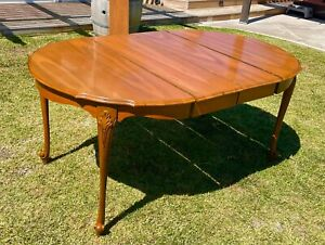 J.B. Van Sciver Co.(since 1880) Vintage Antique Wood Dining Table With Leafs