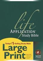 Life Application Study Bible NLT, Large Print Book By Hardcover New