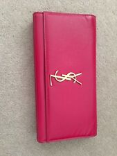 YVES SAINT LAURENT Pink Patent Leather YSL Clutch Bag