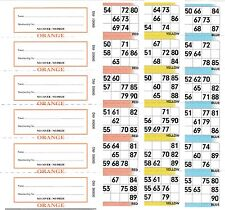 3 Page (3 Game) Bingo Books, 6 to View, 50 Books (300 Booklets)