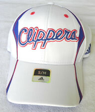 LOS ANGELES CLIPPERS ADIDAS FLEX-FIT WHITE CAP HAT ADULT SIZES NWT!