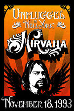 "Grunge: Nirvana "" Unplugged "" in New York Concert Poster 1993 12x18"