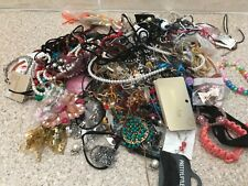 Approx 2kg of mixed tangled costume jewellery ideal for craft making.