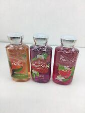 Bath and Body sun ripened raspberry Strawberry Peach shower gel