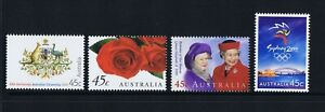 Australian Decimal Stamps 1999 Commemorative Issues (4)  MNH