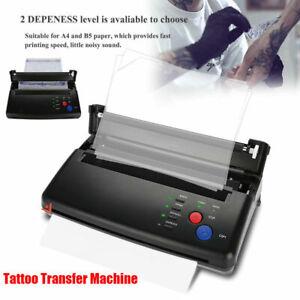 Black Tattoo Transfer Copier Printer Machine Thermal Stencil Paper Maker UK Plug