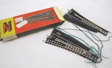 Vintage PIKO N SCALE LH RH switches 4165 4166 16V 9MM Germany Pair (2) NEW