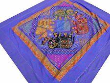 Éléphant indien Couvre-lit Tribale Violet Brodé main Tenture Dessus de lit Inde
