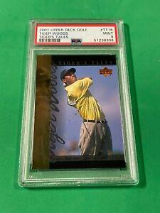 2001 Upper Deck Golf Tiger Woods #TT-16 Tiger's Tale RC PSA 9 MINT PGA CHAMPION!
