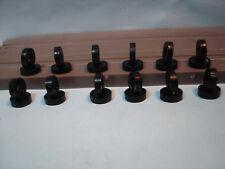 12pr H.O. SCALE BLACK SILICONE TIRE LOT #7 FITS AURORA T-JET 500 NARROW RIMS