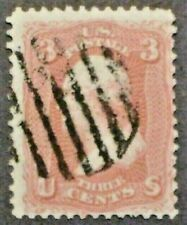 1861  Washington  Sc #65  Fancy (Grill) Cancel  stamp  -  Used