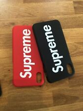Supreme iPhone Cases iPhone 6/7/8/8 Plus/iPhone X Red and Black