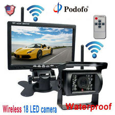 """7"""" Monitor Wireless Rear View Backup Camera Night Vision System for RV Truck Bus"""