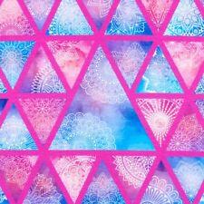 Stoff Jersey Digital Druck Verzierung Dreieck Vintage rosa blau Pink  18€/m