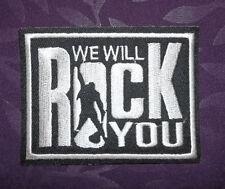 QUEEN PATCH WE WILL ROCK YOU FREDDIE MERCURY RAMI MALEK CLASSIC ROCK DIY