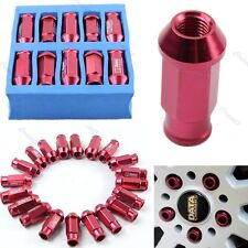 D1-SPEC RED JDM RACING WHEEL LUG NUTS M12X1.5 20PC FOR HONDA FORD TOYOTA