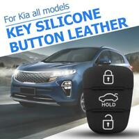 1pc 3 Buttons Rubber Pad for Hyundai Kia Flip Remote Car Key Shell w/ Letter