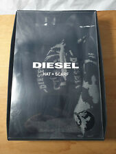 Authentic Diesel logo branded Hat and scarf - New in Box