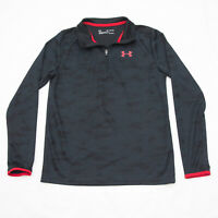 Boy's Youth Under Armour Heat Gear Loose Fit Polyester Pullover 1/4 zip YXL