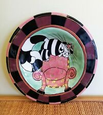 """Rare Lynda Corneille """"Clancy Cat"""" SWAK Wall Hanging / Collectible Bowl 10.5"""""""