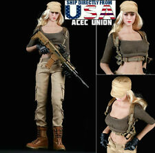 1/6 Women Tactical Army Military Combat Suit Set For Phicen Hot Toys Figure USA