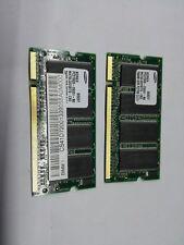 2x Samsung 256MB (512 MB) DDR333/SO-DIMM RAM PC2700 CL2.5 200-Pin (_178)